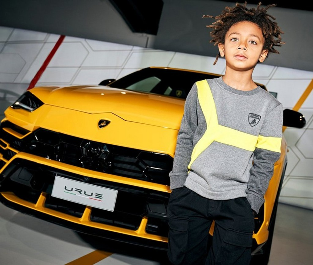 Lanza Lamborghini colección de ropa para niños amantes de autos