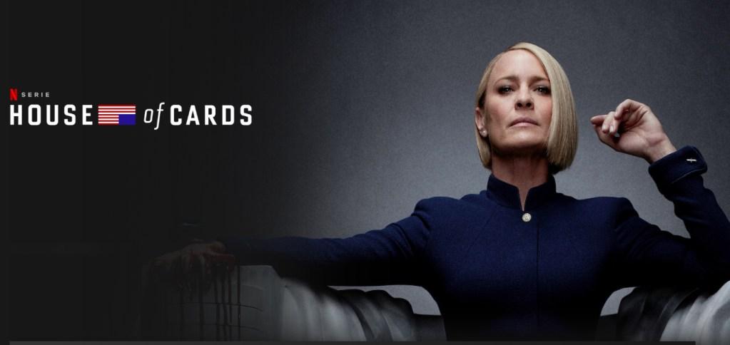 House of Cards actualmente disponible en Netflix