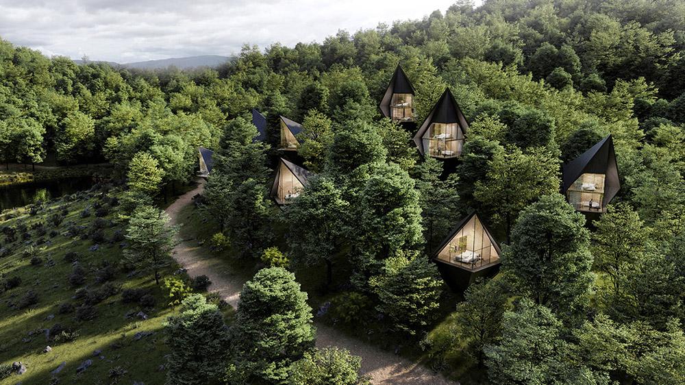 Así es el eco-resort con casas del árbol que será realidad en 2021