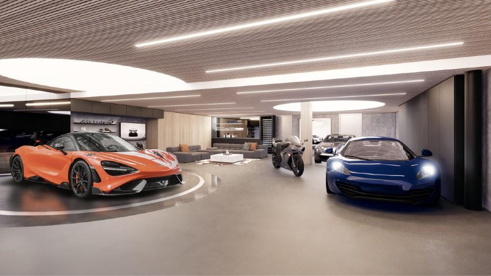 Garaje para 5 autos, ático y un McLaren 765LT de regalo, todo por 16 MDD