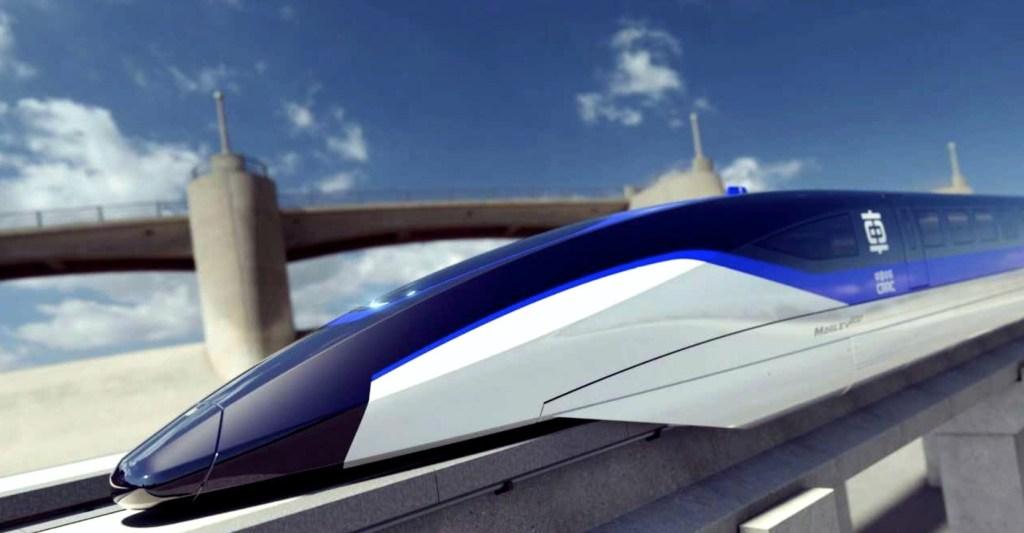 Llega de Londres a París en 47 minutos en éste tren magnético chino que levita a  619 km/h
