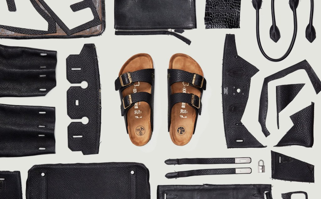 Conoce las 'Birkinstocks' MSCHF, hechas con retazos de Birkin Bags de Hermès