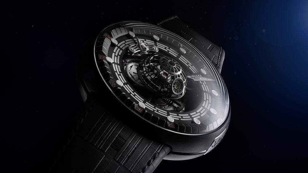 Si Darth Vader usara un reloj ese sería el Death Star Tourbillon de Kross Studio