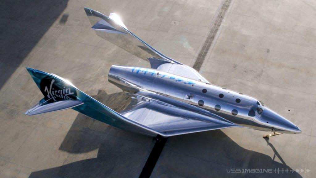 La nave espacial de Virgin Galactic reflejará el planeta sobre su superficie exterior tipo espejo