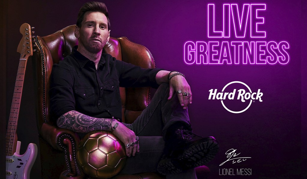 Hard Rock celebra su 50 aniversario de la mano con Lionel Messi