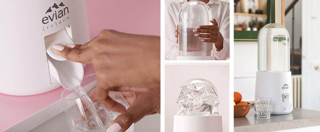Hidratación sana y sustentable con la (re)novada Water Bubble de Virgil Abloh y Evian