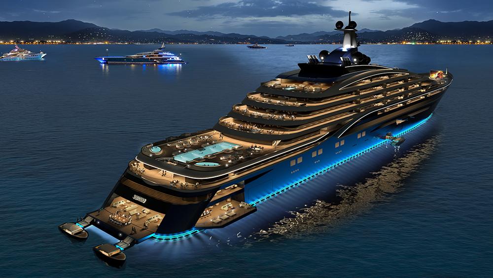El yate más grande del mundo, Somnio, tendrá millonarias residencias flotantes para vivir en el mar