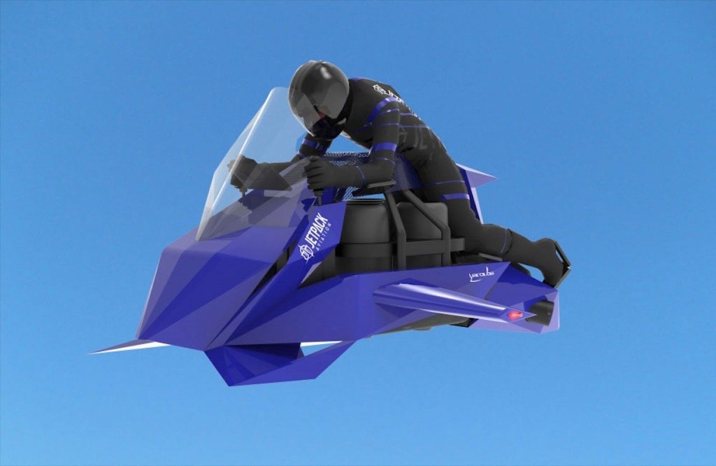 Te sentirás como protagonista de Star Wars a bordo de esta motocicleta voladora de Jetpack Aviation