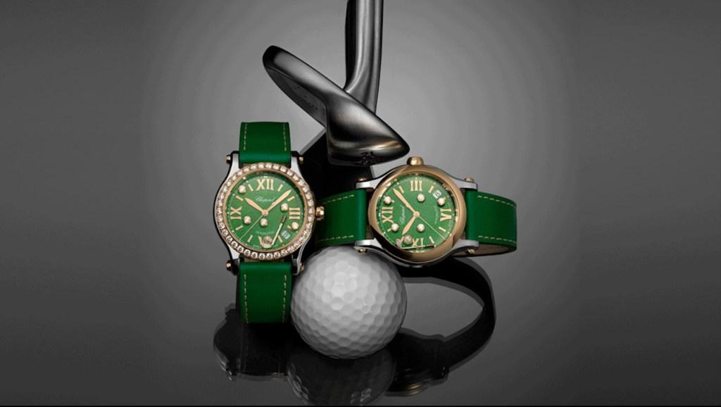 """El nuevo Chopard Happy Sport Golf Edition tiene """"pelotas"""" de diamantes que se mueven por el green"""