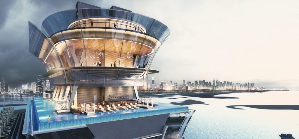 Aura es la piscina infinita con vista de 360° más alta del mundo y sí, está en Dubái