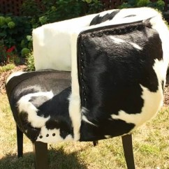 Chair Cover Ideas Natural Wood Rail Before And After: Cowhide Reupholstered | Robb Restyle