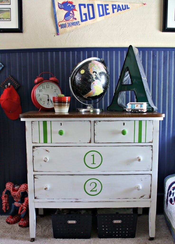 DIY Painted Dresser for Boys