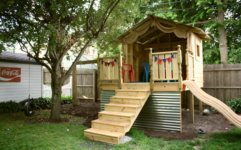 DIY Backyard Hideaway Playhouse Part 1