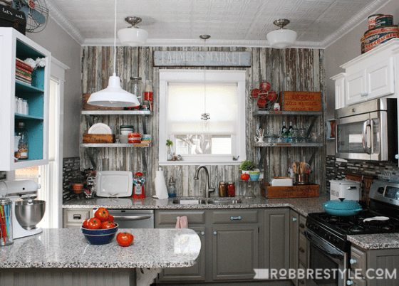 Vintage Farmhouse Kitchen Reveal by Robb Restyle