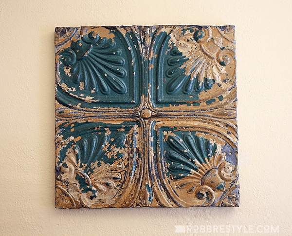 green_gold_tin_ceiling_tile