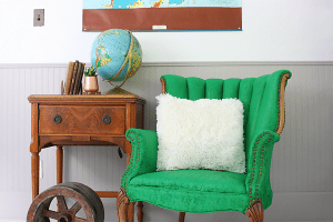 DIY Chair Makeover: A no-fuss way to paint fabric.