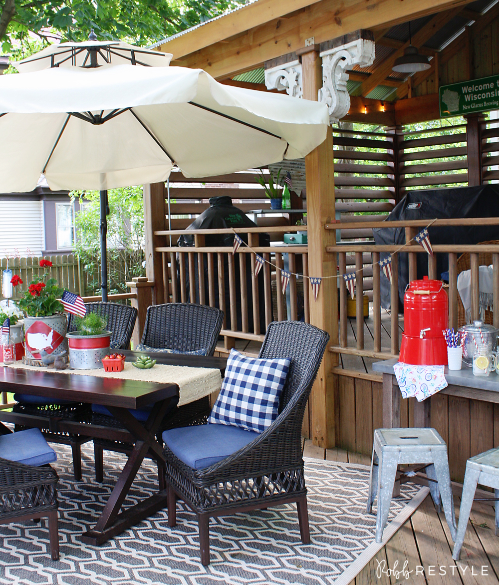 Summer home tour - patriotic deck party