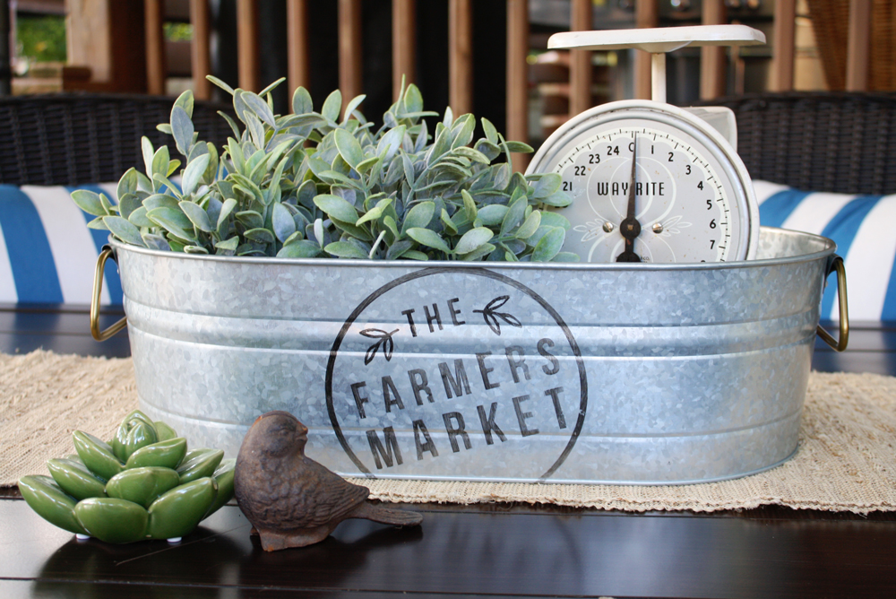 DIY Farmer's Market Bucket Project