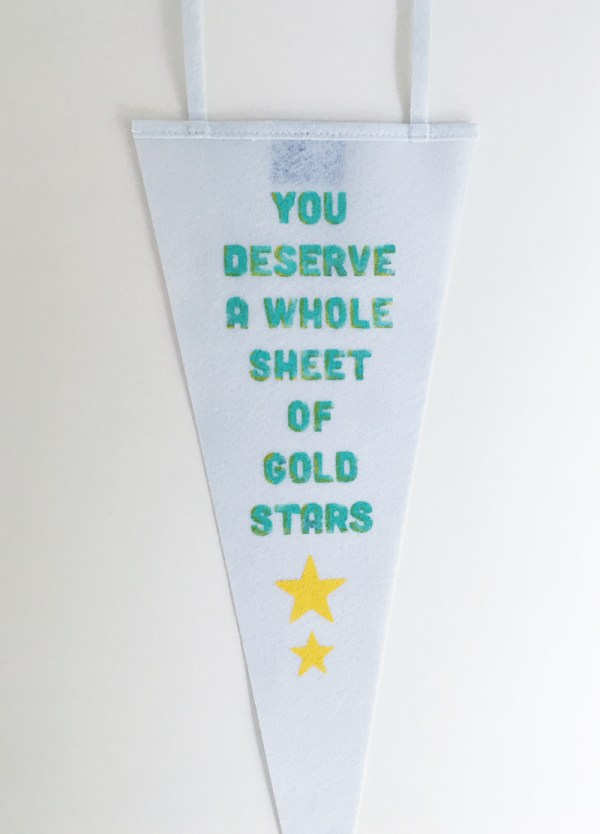 Gold Stars Quote Pennant