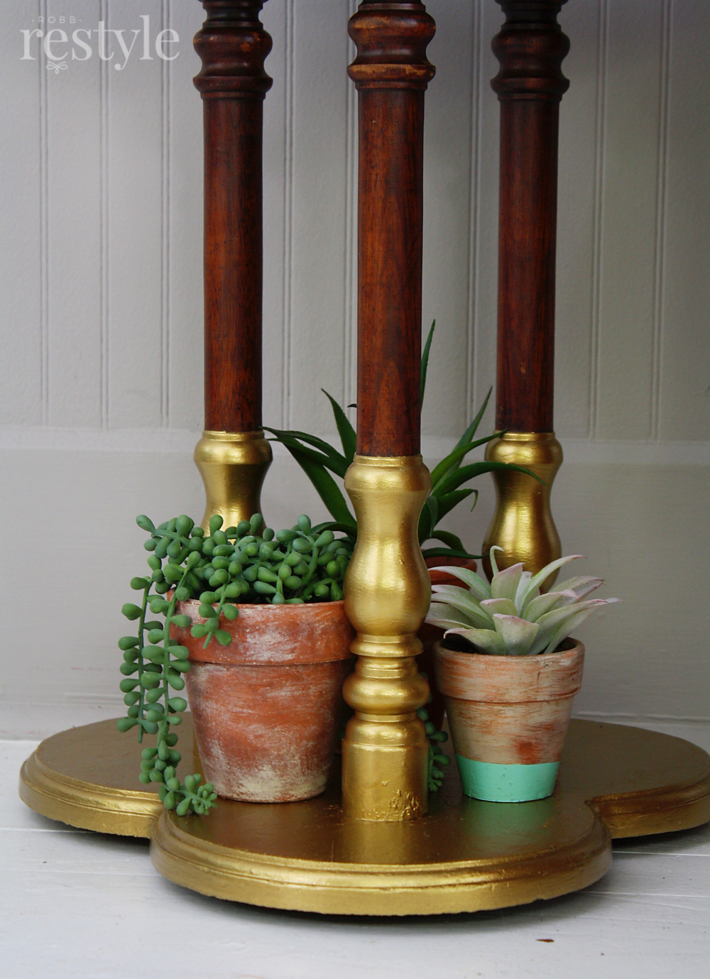 gold dipped table legs
