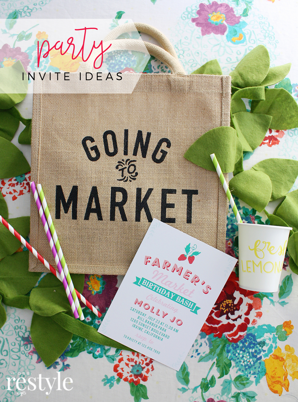 Best Custom Party Invitations - Farmers Market
