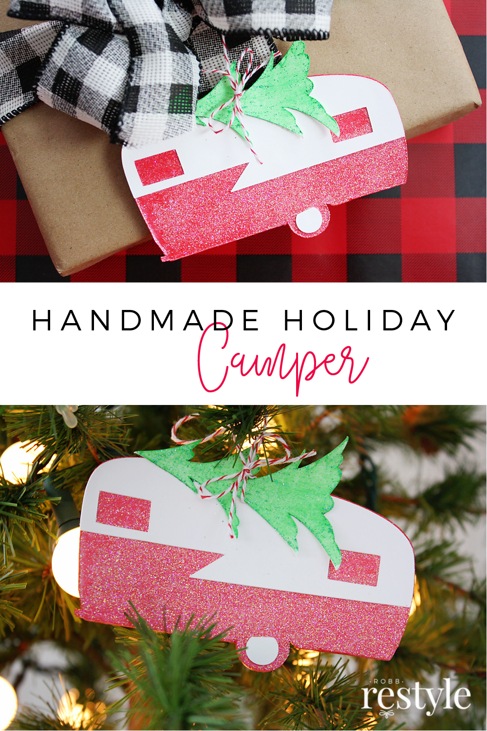 DIY Handmade Holiday Camper Cricut Project