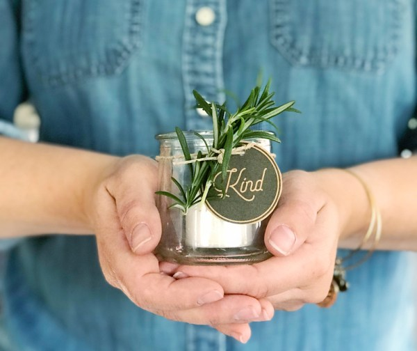 Votive gift jar idea and free printable