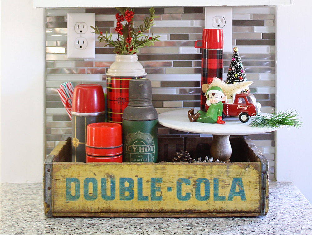 Vintage Double Cola Box Thermoses Decor