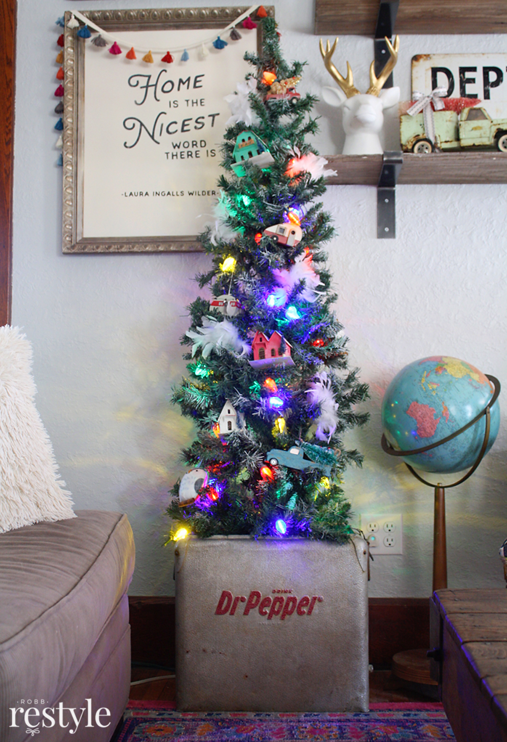 Vintage Soda Box Tree Skirt