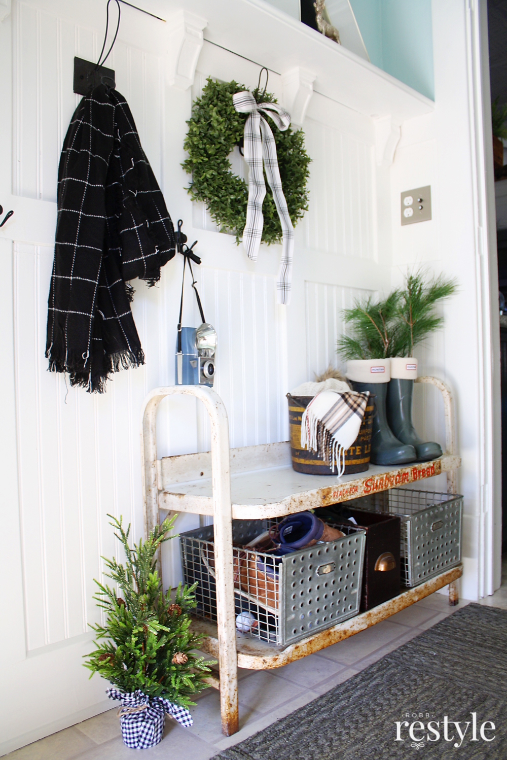 Christmas Decorated Entryway