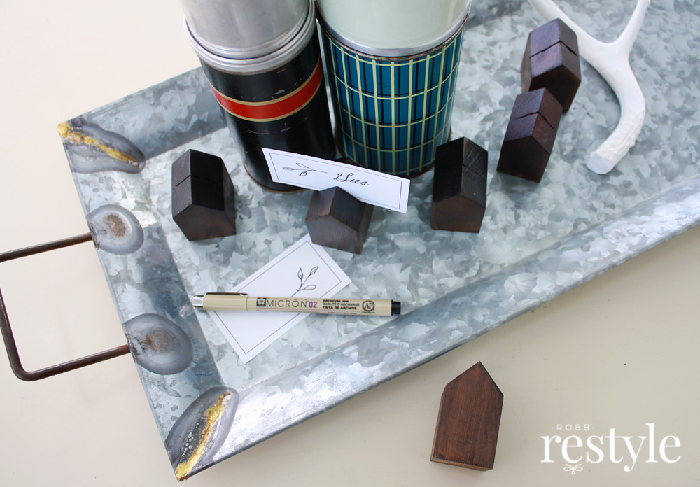 Upcycled Decor Idea - House Place Card Holder Project
