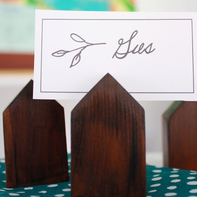 Upcycled Decor Idea: House Place Card Holder