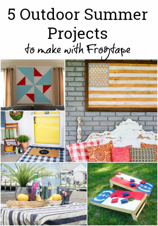 5 Outdoor Summer DIY Projects to Make with Frog Tape