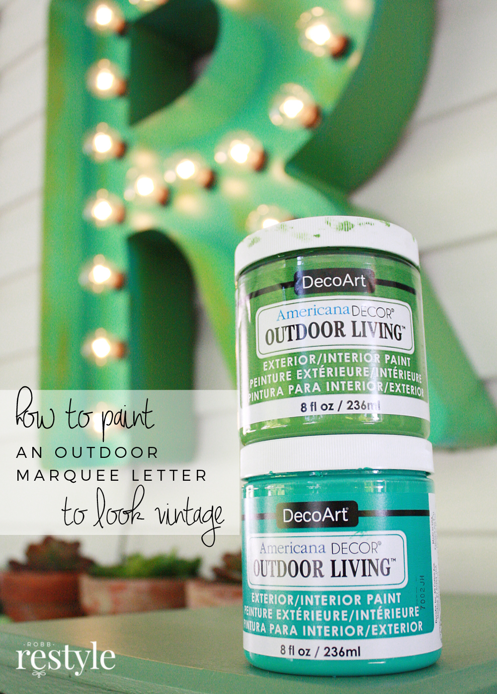 How to paint vintage marquee lette