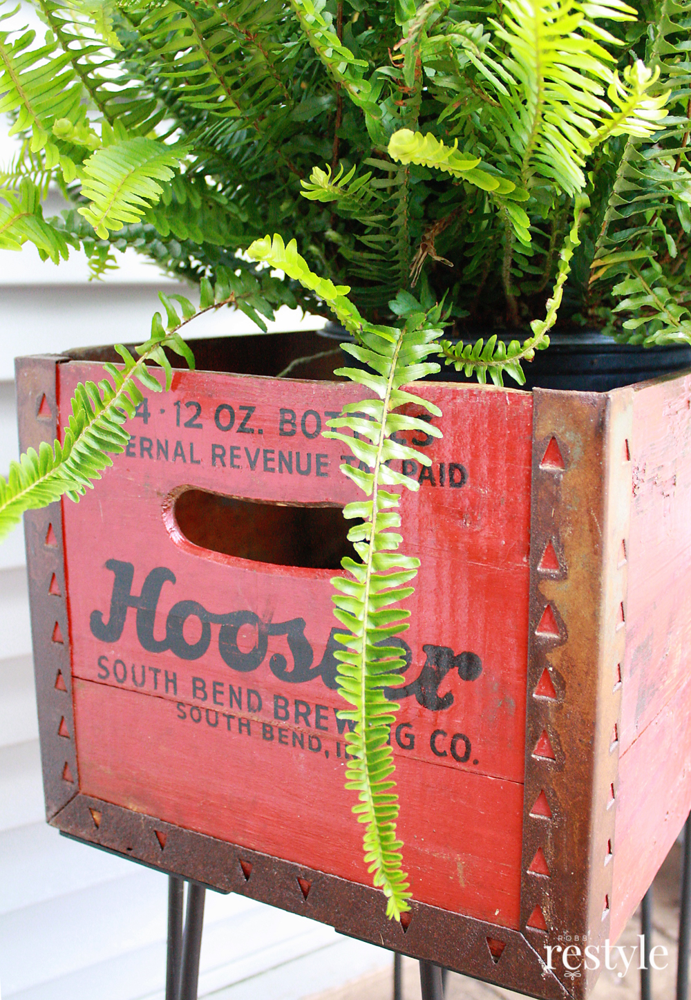 Vintage Hoosier Beer Crate Repurpose Upcycle