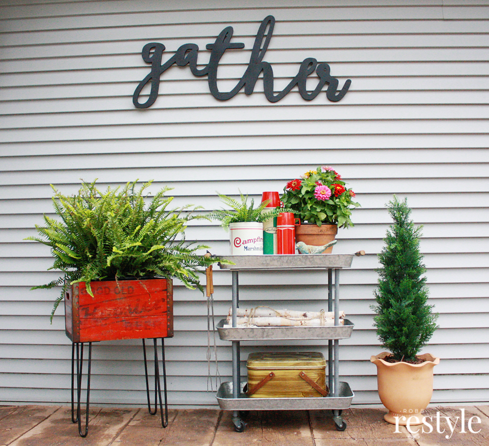 Repurpose a Vintage box into a patio container garden.