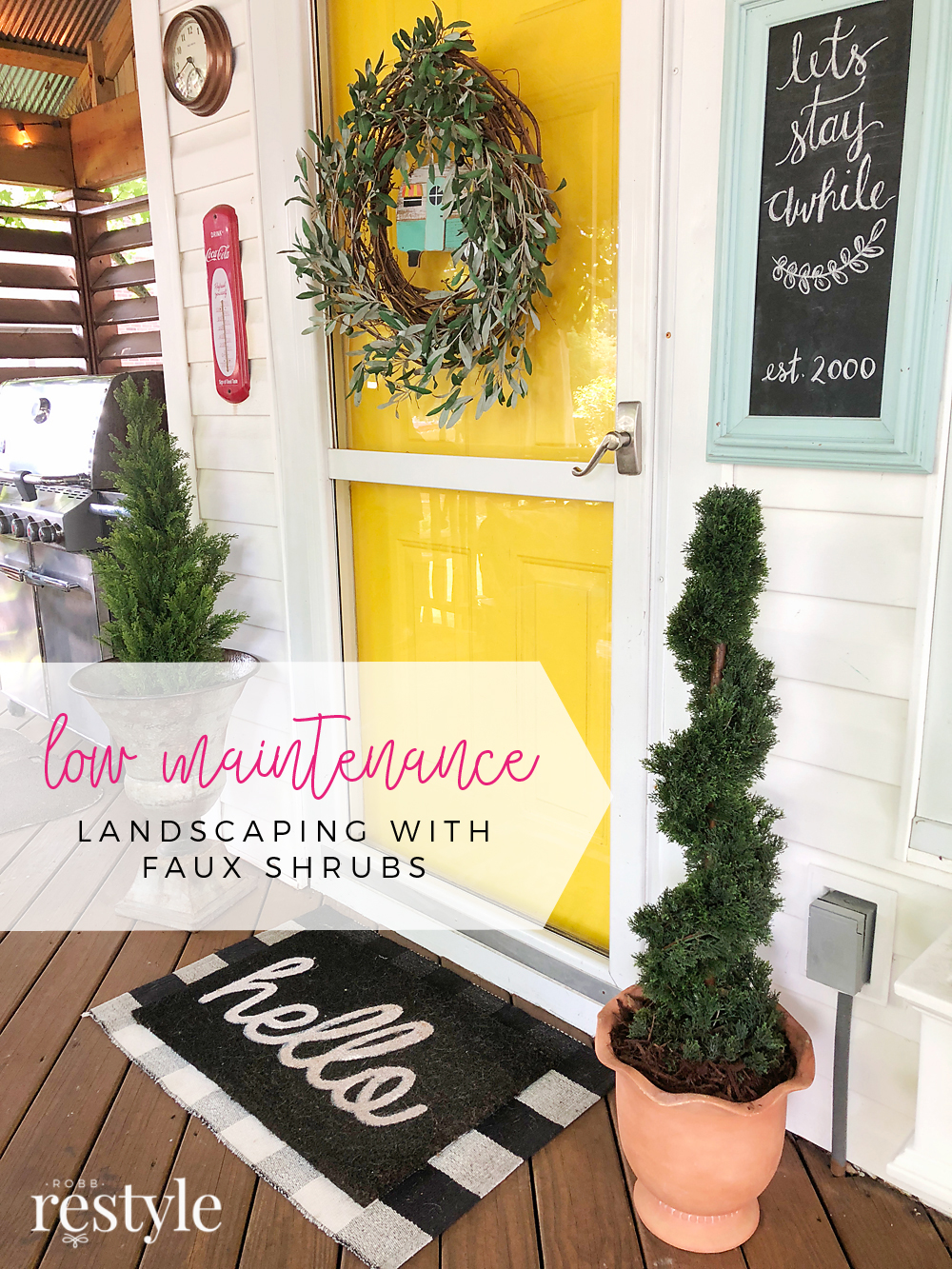 Low Maintenance Landscaping with Faux Plants