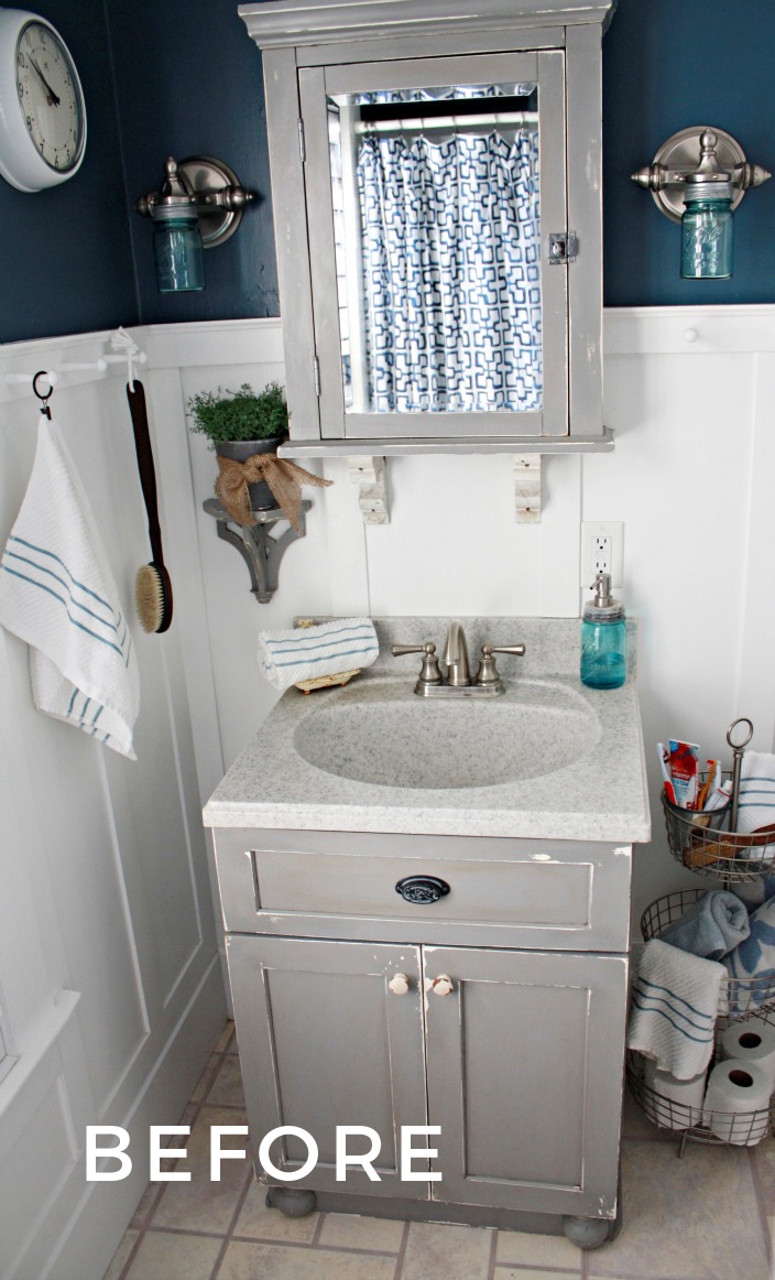 Small Bathroom Ideas with Vintage Decor | Robb Restyle