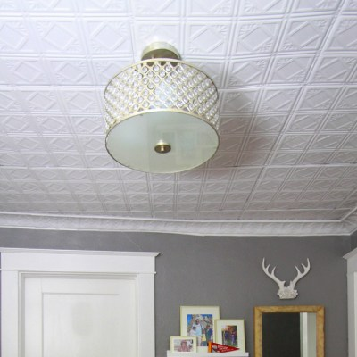 Another Easy Way to Hide Your Ugly Drop Ceiling