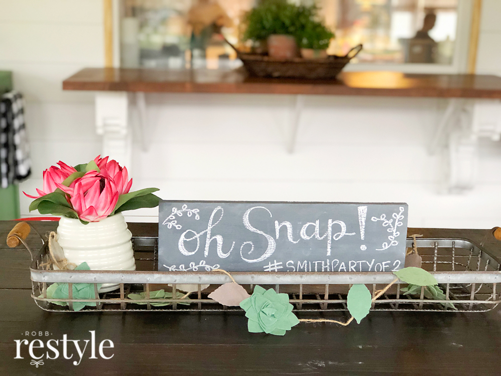 Oh Snap - Wedding Hashtag Chalkboard Idea