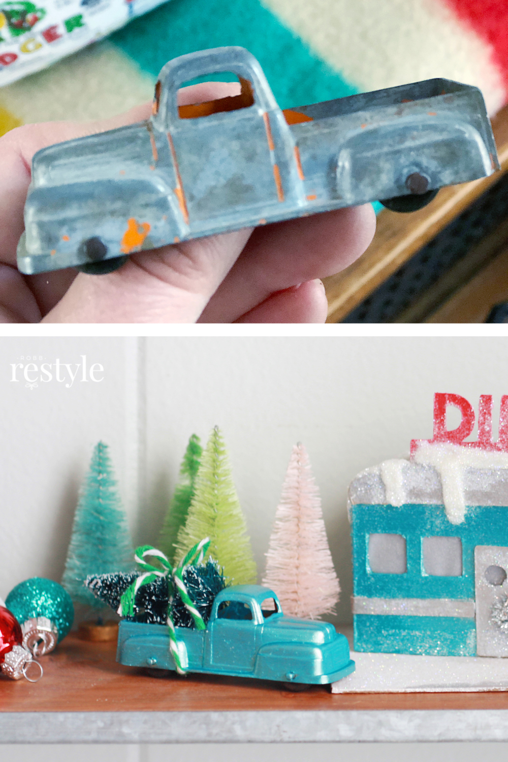 How to paint a toy truck for putz house