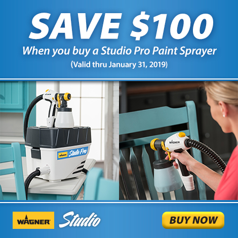 Save $100 on Wagner Studio Pro Sprayer