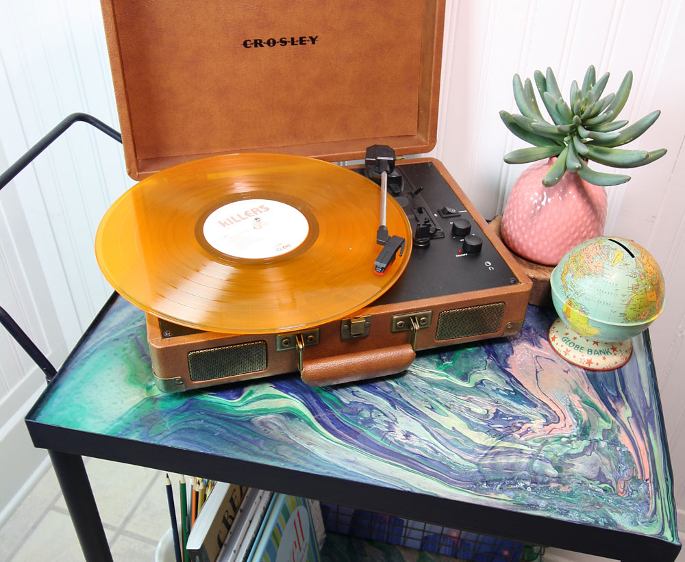DIY vinyl record cart