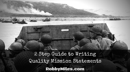 2 Step Guide to Writing Quality Mission Statements