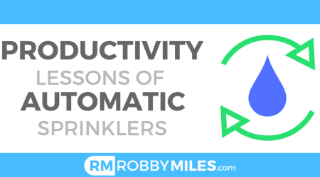 Productivity Lessons of Automatic Sprinklers