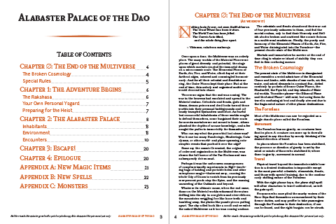 Table of Contents and Introduction