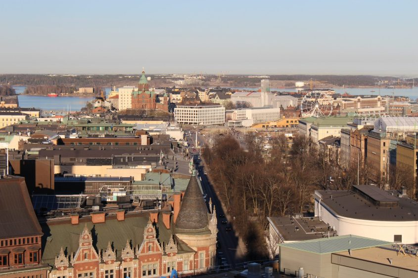 Helsinki Aerial View from Hotel Torni