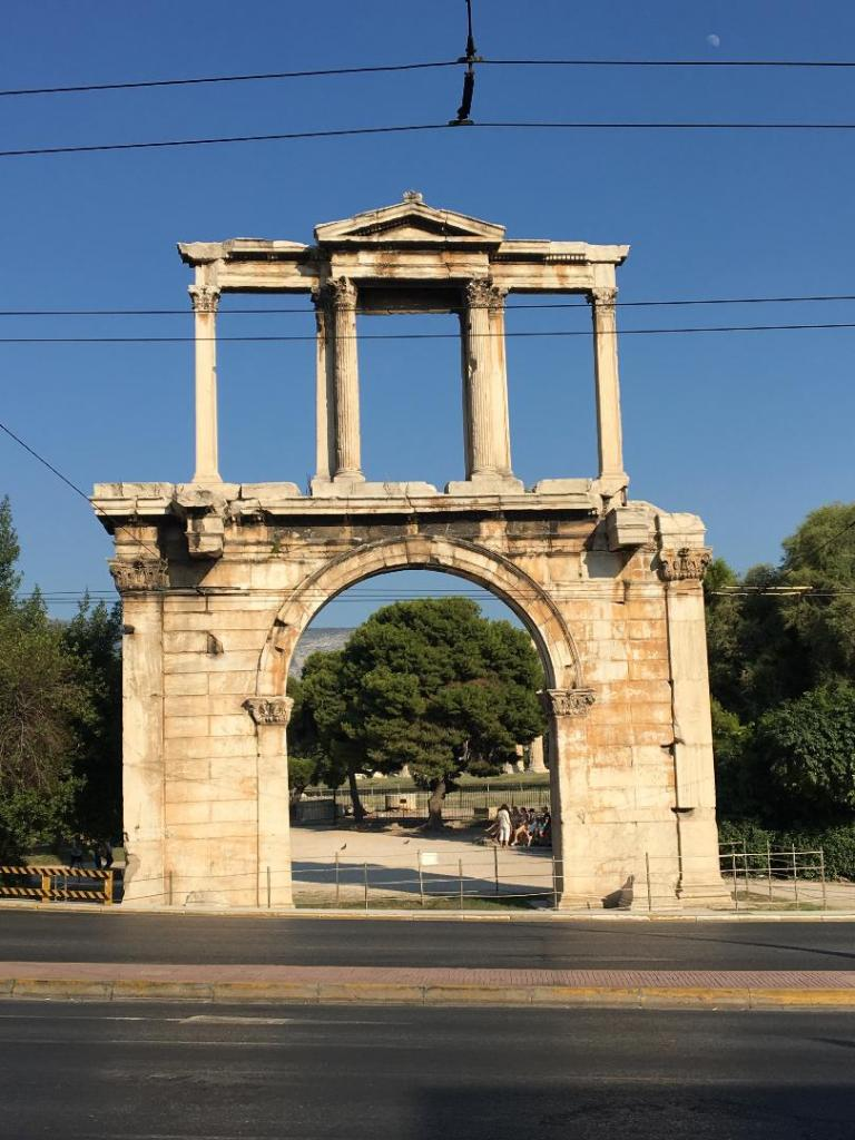Hadrian's Arch in Athens Greece