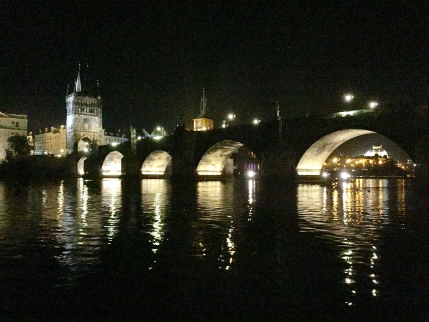 Charles Bridge from the river boat