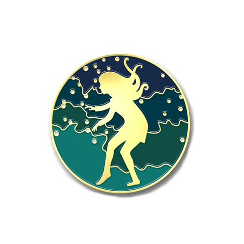 Gold Enamel Pin - Serafina and the Black Cloak